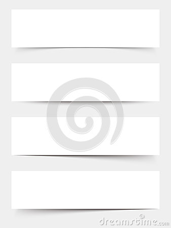 Free White Blank Web Banners. Vector Eps-10. Stock Photo - 66180300