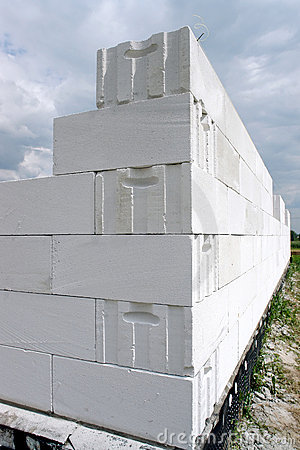 White block wall