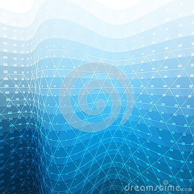 White and blue abstract mosaic background