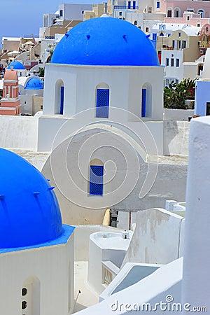 White and blue of Santorini, Oia village