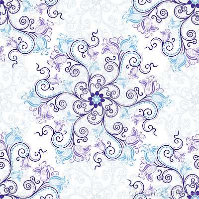 White-blue seamless pattern