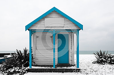 White and blue shed
