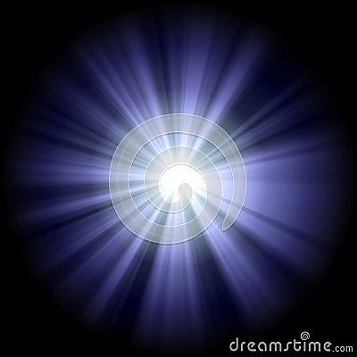 White blue star