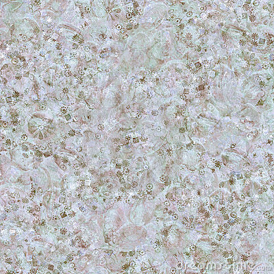 White and blue winter chalk floral jewel print