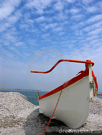 Free White Boat Stock Image - 125811