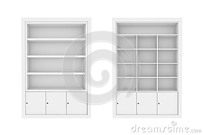 white Book Shelves.