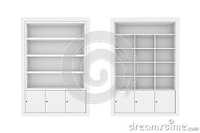 white Book Shelves.