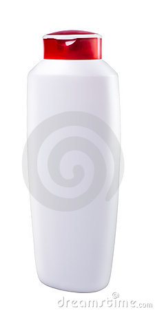 White bottle with copyspace