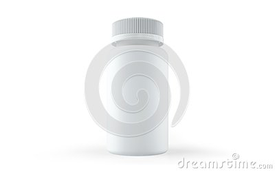 White bottle for pills