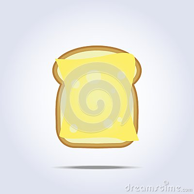 Free White Bread Toast Icon With Cheese Royalty Free Stock Images - 47416209