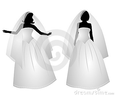 White Bridal Gown Dress Silhouettes