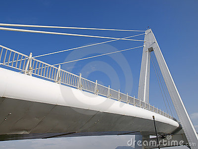 White bridge and blue sky