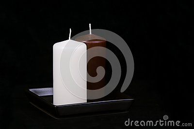 White and Brown candles