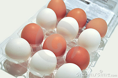 White Brown eggs