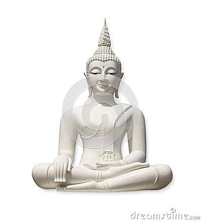 Free White Buddha (isolated) Stock Photos - 14685043