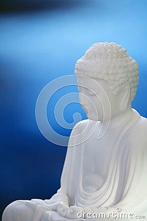 Free White Buddha On Blue 02 Royalty Free Stock Photography - 18439447