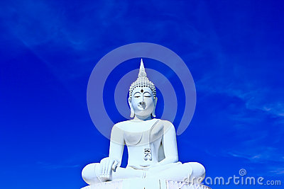 White buddha in the sky