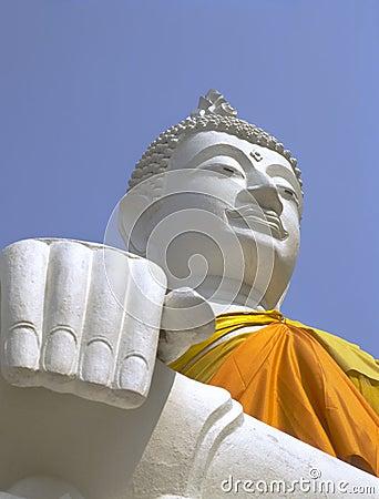 Free White Buddha, Wat Yai Chai Mongkol, Ayutthaya Stock Image - 50891