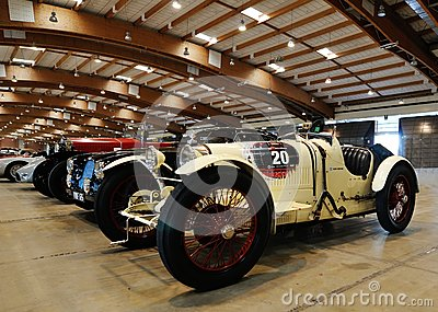 White Bugatti Type 35 built in 1925, vintage cars Editorial Stock Photo