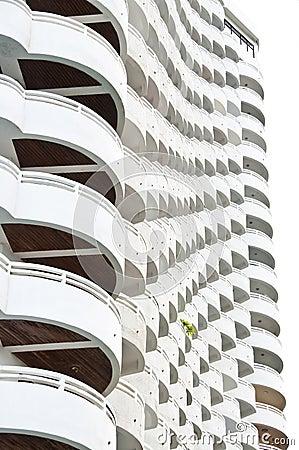 White building.