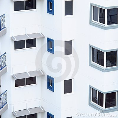White Building Abstract