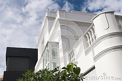White building facade
