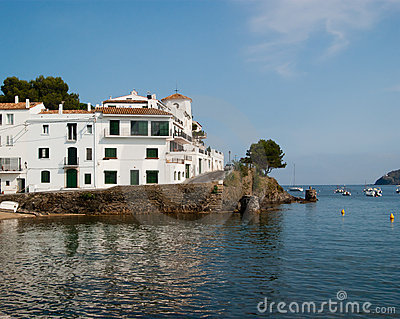 White buildings Cadaques Costa Brava