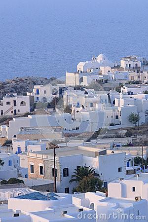 White buildings in Greece