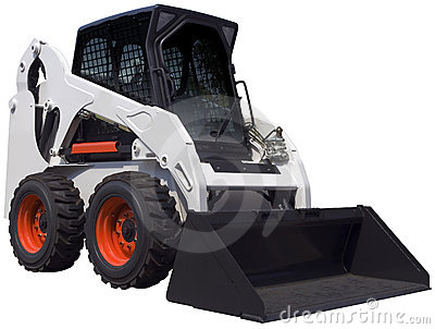 White bulldozer