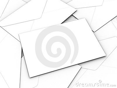 White business envelopes