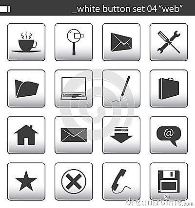 Free White Button Set 04 Royalty Free Stock Photo - 1761495