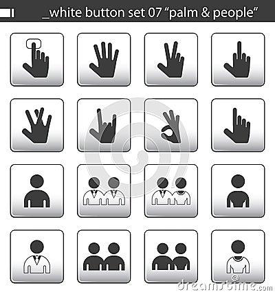 White button set 07