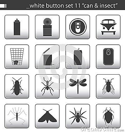 Free White Button Set 11 Royalty Free Stock Photo - 1761535