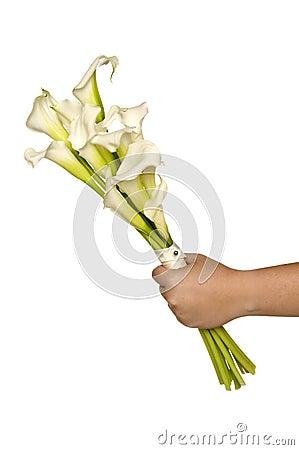 White Calla Lilly Bridal Bouquet