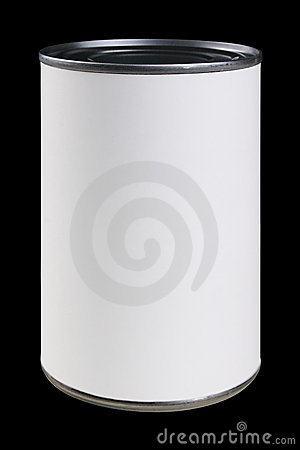 Free White Can Label With Clipping Path Royalty Free Stock Photos - 1840958