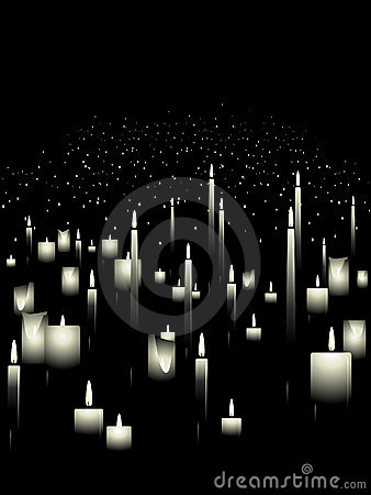 White candle background