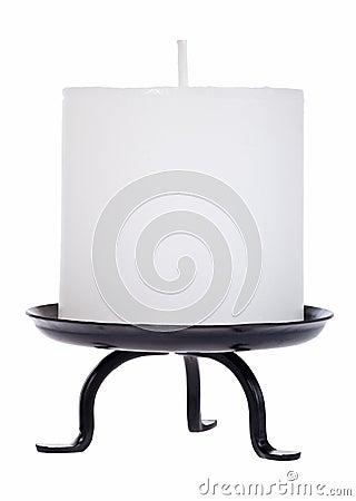 White candle cutout