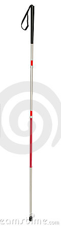 Free White Cane, For Blind Persons Royalty Free Stock Photo - 11375295