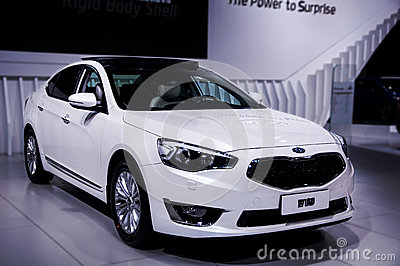 A white car of Kia Editorial Stock Image