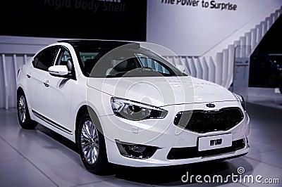 A white car of Kia Editorial Stock Image