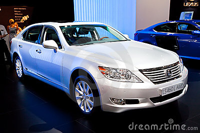 White  car Lexus LS 460 L AWD Editorial Stock Image