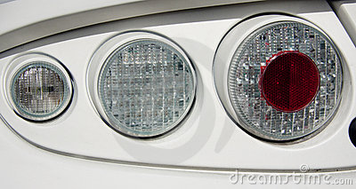 White car and light