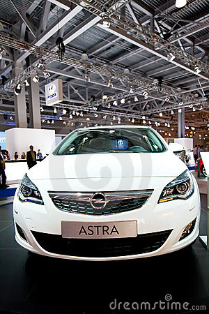 White car Opel Astra Editorial Stock Photo