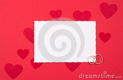 White card for congratulation