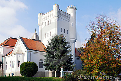 White castle with tower