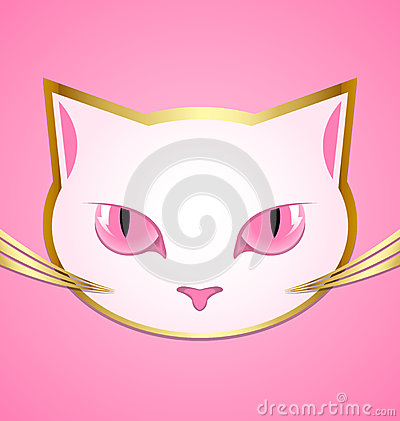 White cat head