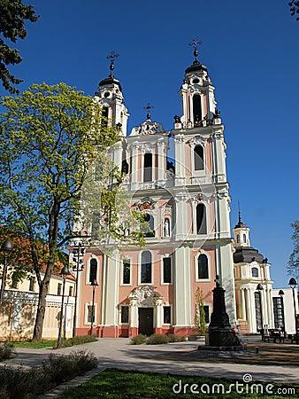 White Catherine church in old Vilnius city