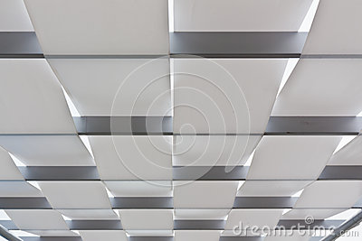 The white ceiling