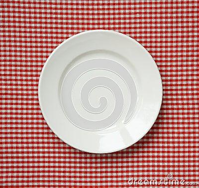 White ceramic plate.