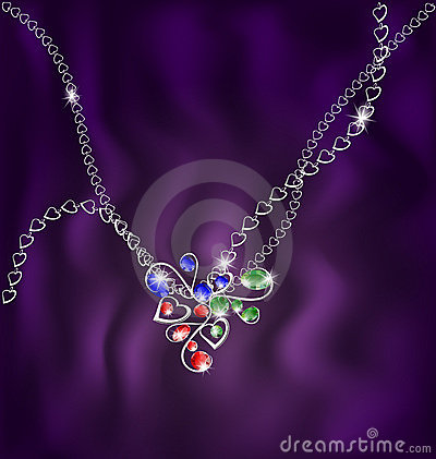 white chain and jewelry pendant
